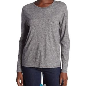 Madewell gray pocket tee shirt